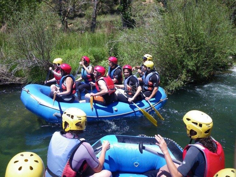 Rafting por grupos