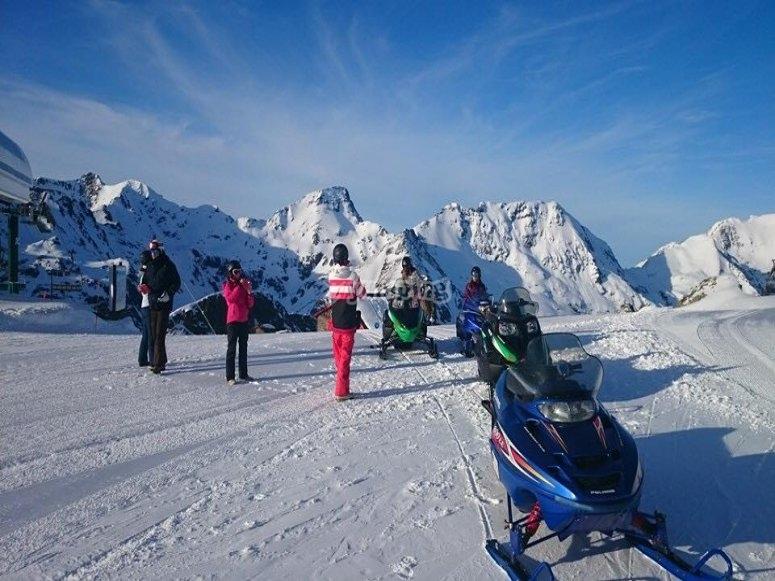 Las motos de nieve preparadas