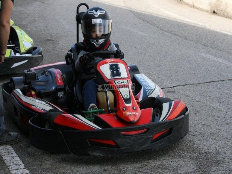 Piloto listo para la carrera