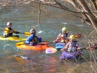 Iniciandonos en los kayaks