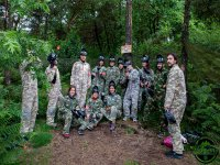 Paintball adulto bosque