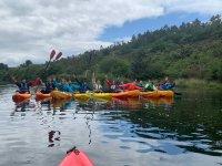Grupo en los kayaks