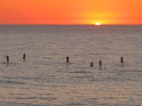 Paddle surf tramonto