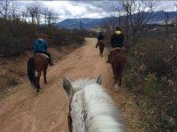 A caballo por los alrededores del centro
