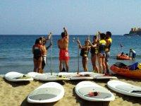 桨冲浪女孩桨板冲浪
