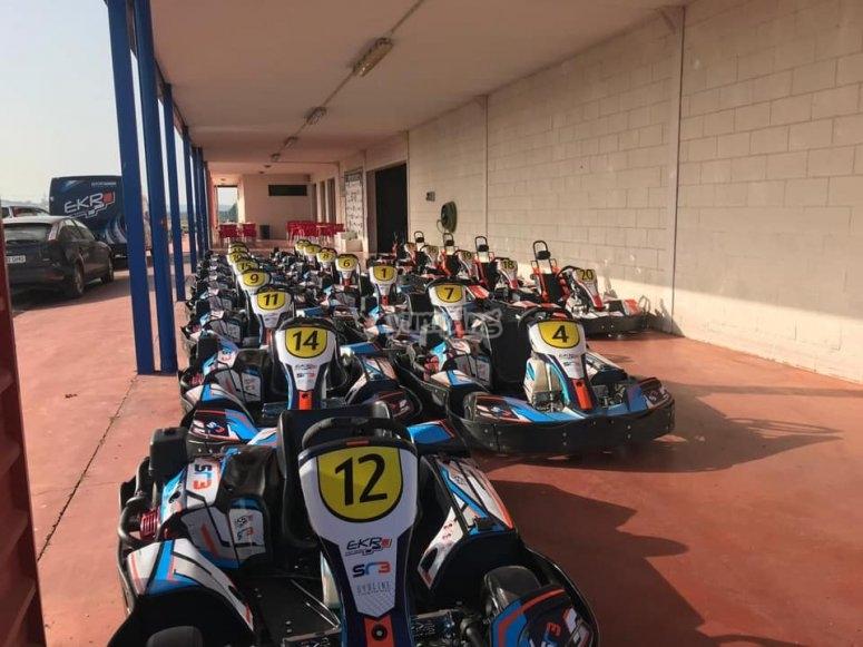 Karts biplaza en Talavera la Real