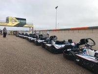 Karts preparados para la carrera