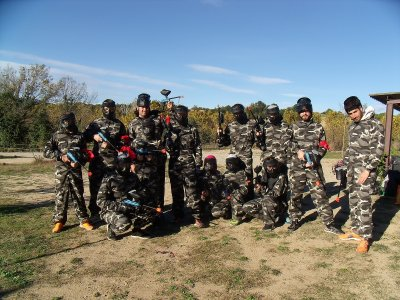Paintball game in Caldes de Montbui