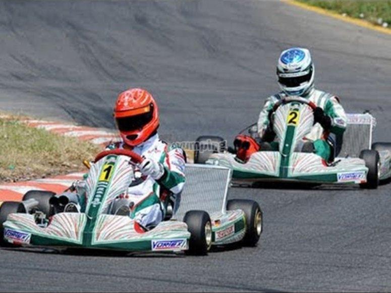 Día de carrera de kartings