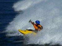 Practicar kayaks