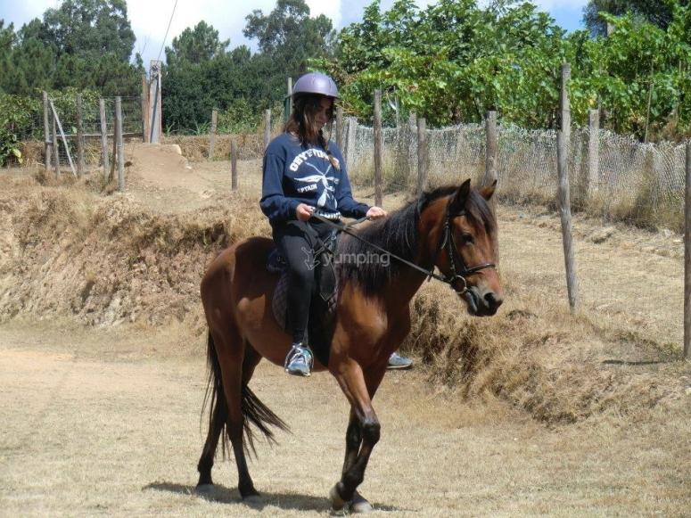 Subida a caballo