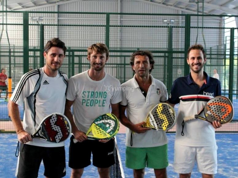 Ferrero con amigos