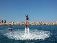 Bachelor party in Torrevieja, zodiac and flybaord