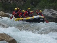 Rafting downhill in Huesca