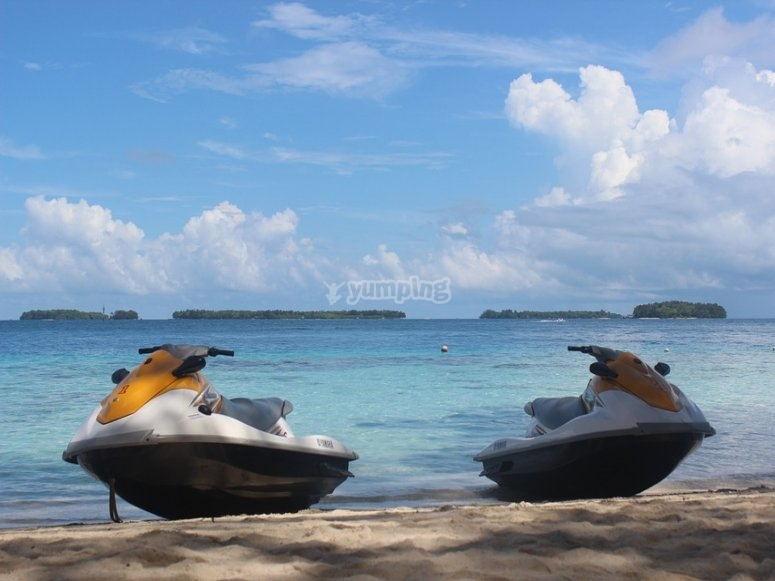 Montar en moto de agua en Estepona