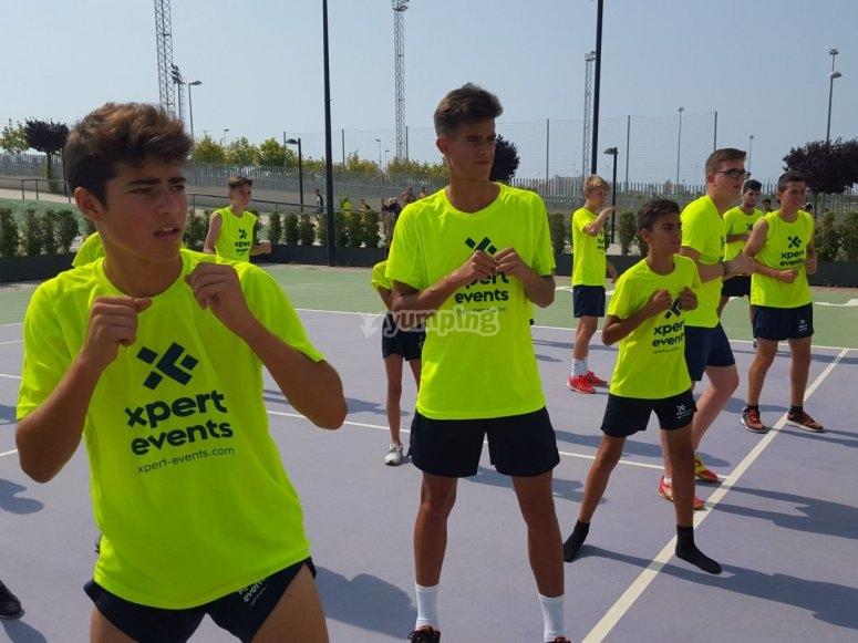 Un poco de kick boxing en la ciudad deportiva de Torrevieja