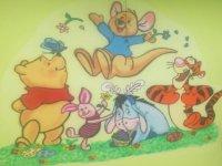 pared con los personajes de winnie de pooh