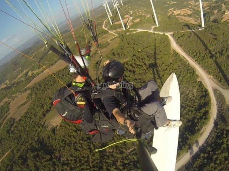 滑翔伞穿越伊瓜拉达的工厂