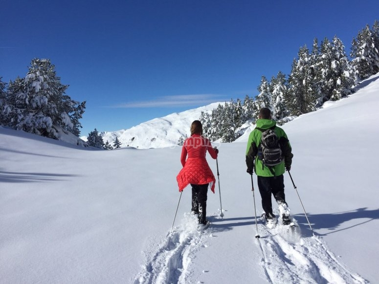 Romantic walk in the Pyrenees