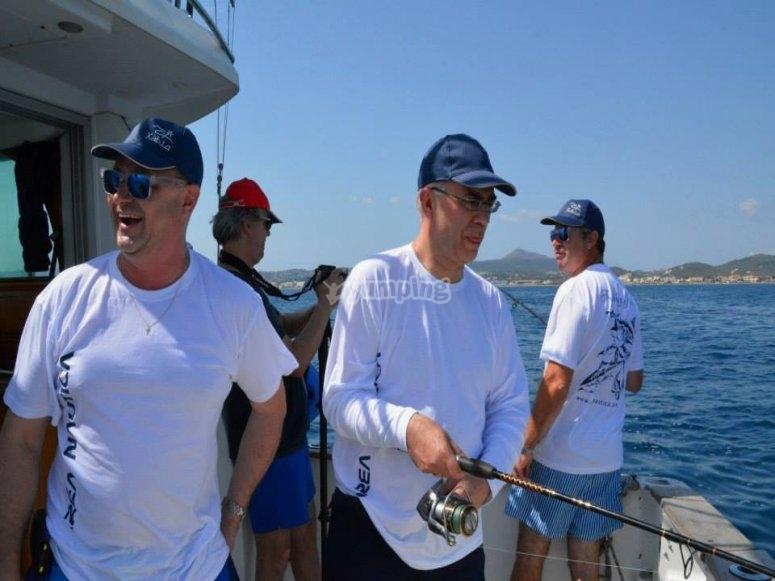 Pescare in gruppo a Javea