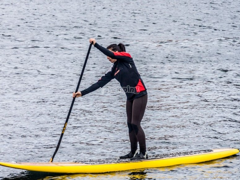 Rowing in Stand uo paddle into Girona
