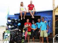 Everyone possing beofre kitesurfing