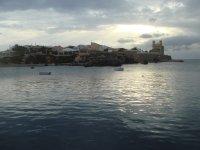 Bello atardecer en la Isla de Tabarca