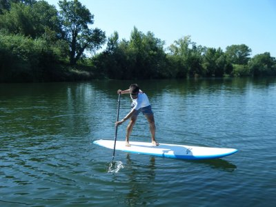 Stand up paddle surfing Fluvià river 2 h