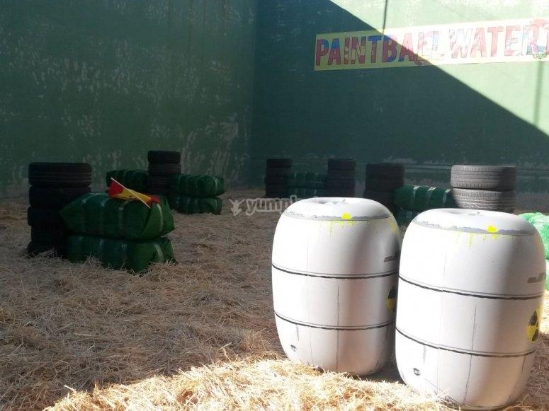 Nuestro campo de paintball watertag
