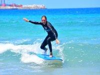Surfista en Playa Blanca