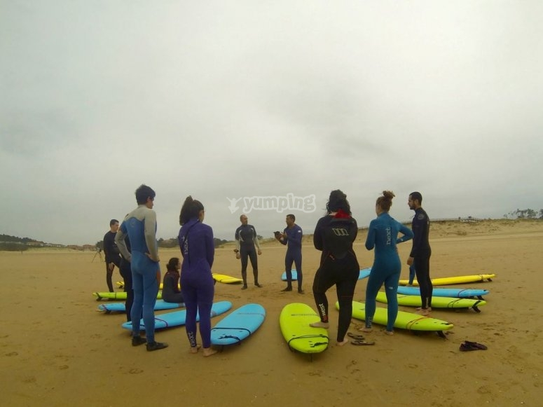 Explicaciones a pie de playa