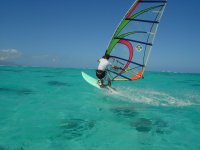 Learning windsurfing