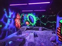 Escenario para partida de laser tag