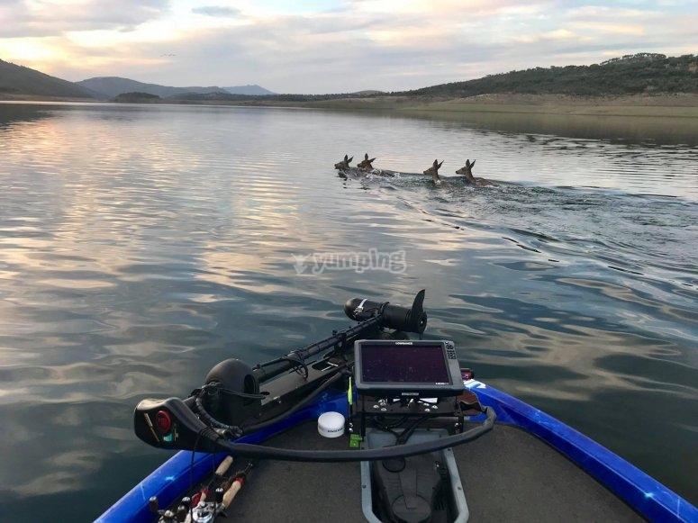 在奇亚拉湖上钓鱼