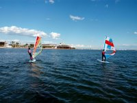 Sunny day to practice windsurf