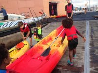 Ready to take out the canoes
