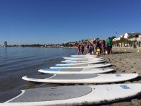 Preparing the SUP surfboards