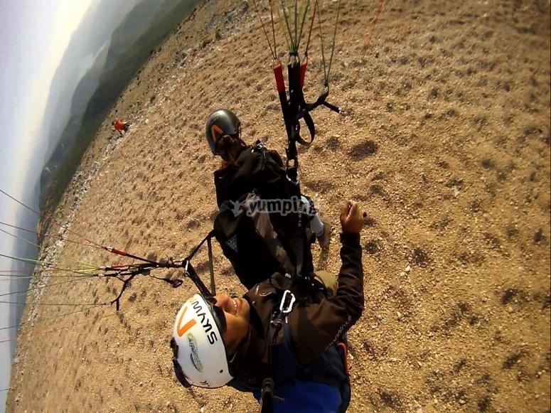 aterrizando parapente