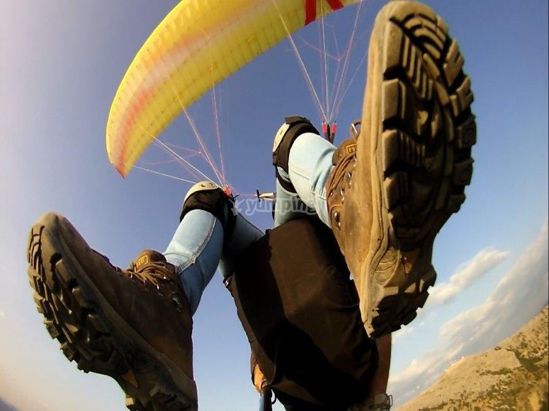 aterrizaje parapente