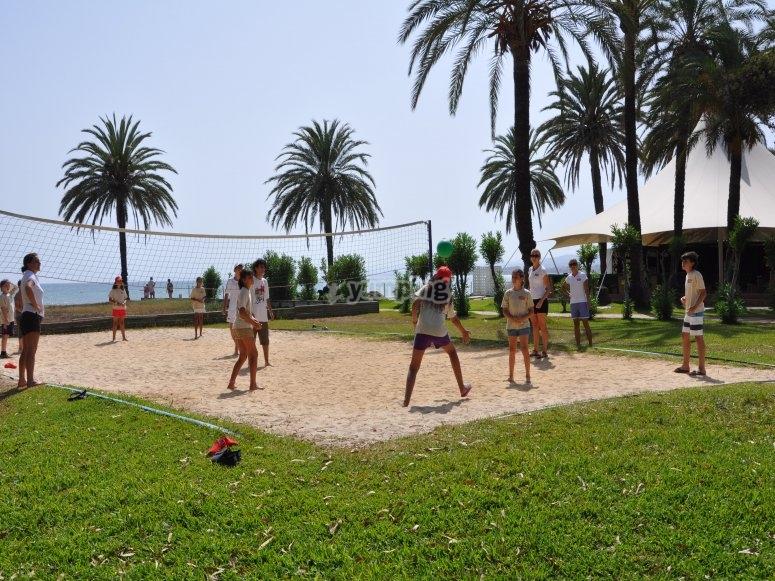 Volley junto al mar
