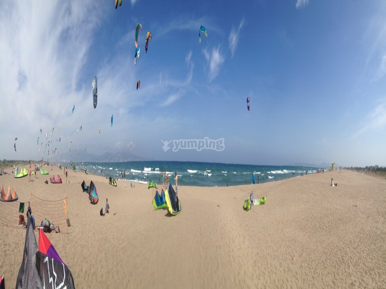 Kite beach area