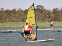 Planche à voile dans les marais