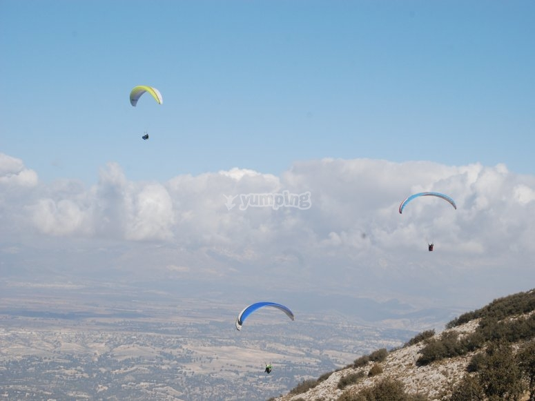 2-seater paragliders group in Granada