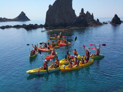 Ruta en kayaks para niños en el Cabo de Gata