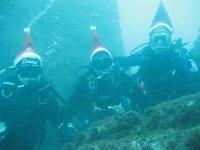 Navidad bajo el agua