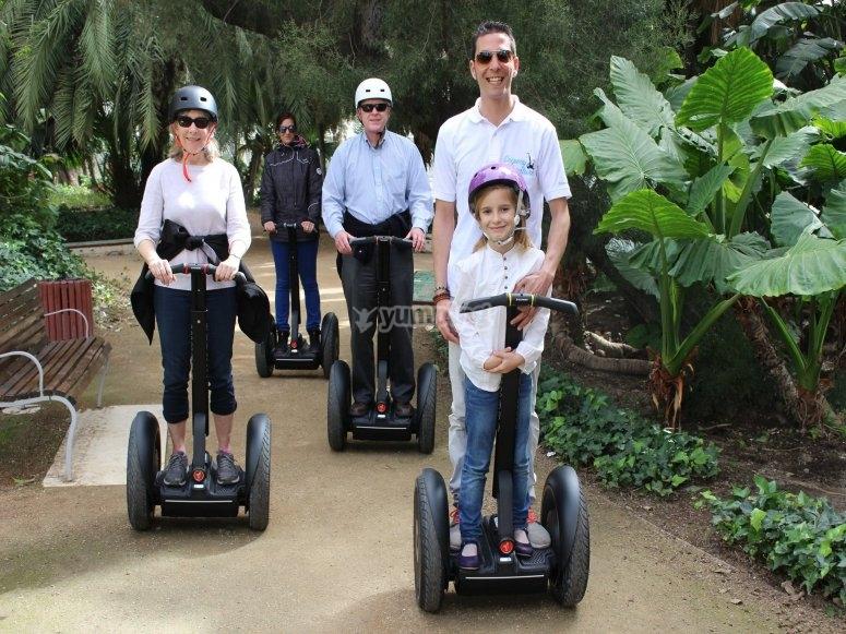 familia en el parque
