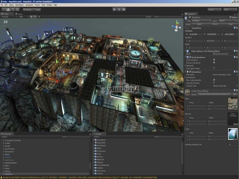 Escenario en Unity 3D