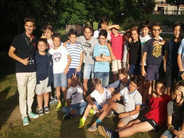 Grupo de alumnos del camp