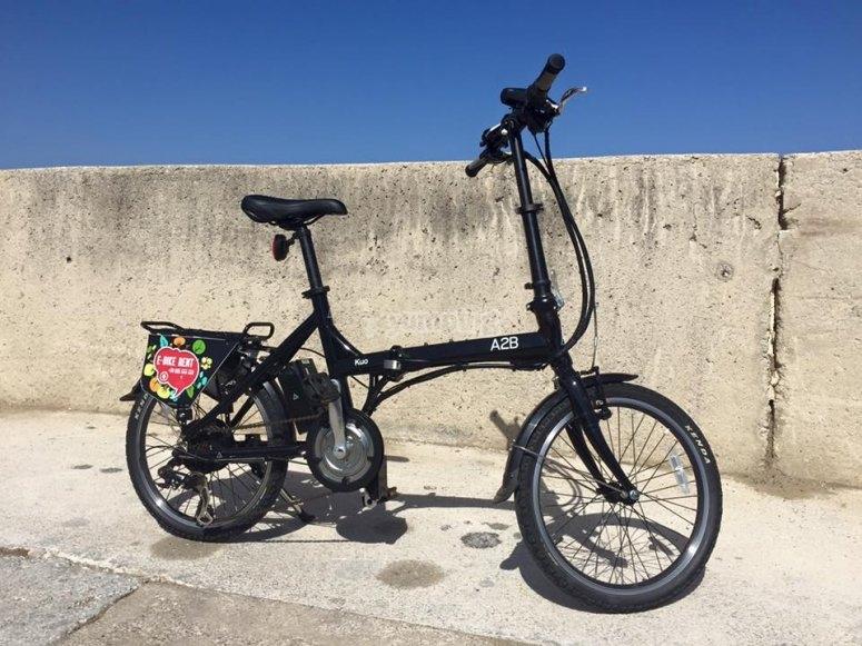 Our e-bike in the promenade