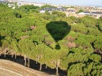 使球囊膨胀球囊上的阴影树木